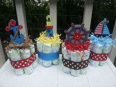 small diaper cakes for centerpieces