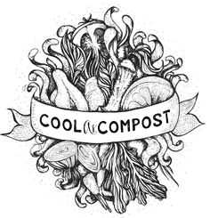 Cool As Compost sustainable print available on singlets and T's over at the Triple Z Art store.