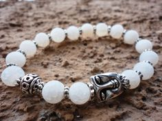 Protection Agate Meditation Mala bracelet with by LifeForceEnergy, $27.00