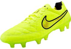 Nike Tiempo Legend V FG Soccer Cleats - Volt and Hyper Punch...get yours at SoccerPro.