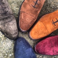 CESPINS❤Bontoni suede shoes - suede care guide. Dos and Don'ts, weather no-nos etc. Potential for fashion client or footwear client.