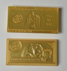 Large Gold Fire Bar