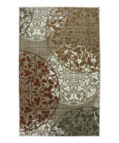 This Rustic Lace Medallions Rug is perfect! #zulilyfinds