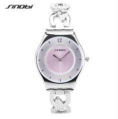 SINOBI Brand Fashion Silver Bracelet Watch Luxury Rhinestone Quartz-Watch Women Watches Lady Hour Relogio Feminino Reloj Mujer Like and Share if you agree! Visit our store #luxurymujer