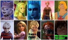 IT WAS A PHASE!!!<< Merida's is actually someone's blood elf character in World of Warcraft