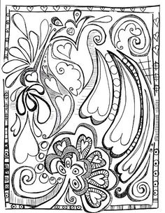 how to draw a zentangle Tangle Doodle, Tangle Art, Doodles Zentangles, Zen Doodle, Zentangle Patterns, Doodle Art, Heart Doodle, Tattoo Patterns, Doodle Coloring