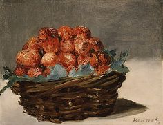 Édouard Manet (French, Strawberries, c. oil on canvas, 8 x 10 ½ in. At the end of his life, illness forced Manet to limit his work to the small-scale still lifes like this canvas and views of the garden around. Renoir, Juan Sanchez Cotan, Poster Prints, Art Prints, Canvas Prints, Posters, Munier, Paul Cézanne, European Paintings