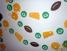 Green Bay Packers Paper Garland by HookedonArtsNCrafts on Etsy