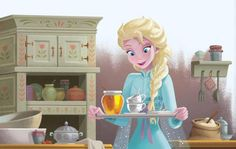 """""""Would you like a spot of tea, sir?"""" Snow Queen asked. Pinned by Rose Tyler"""