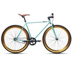 Teal and Gold Bike