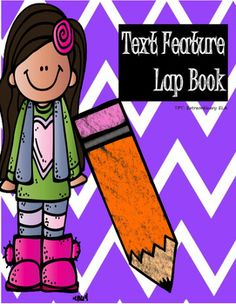 Use this interactive lap book to help students learn text features!  Students will cut out all the pieces and match each text feature to its appropriate definition.  After, students will glue all the pieces together to create flaps inside the lap book.