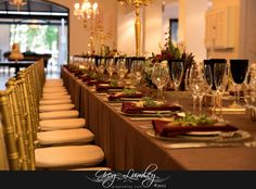 Red and brown table wedding decor.  Molenvliet wine farm.