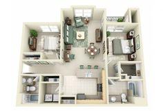 50+plans+en+3D+d'appartements+et+maisons