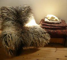 This Najavo ram wool chair throw is cosy.