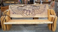 Chainsaw Woodcarvings/ H-D Bench Harley-Davidson of Long Branch www.hdlongbranch.com