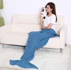 Community Groupbuy Fish Scales Mermaid Tail Blanket | BuyerpartyInc.
