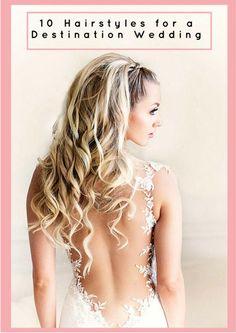 Boho Inspired Creative And Unique Wedding Hairstyles - Hochzeit Frisuren Wedding Dress Backs, Chic Wedding Dresses, Elegant Wedding Hair, Elegant Bride, Backless Wedding, Wedding Hair And Makeup, Perfect Wedding, Rustic Wedding, Hair Wedding