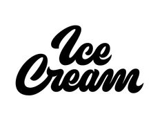 The Design Studio of Jeremy Friend The Design Studio of Jeremy Friend selber machen ice cream cream cream cake cream design cream desserts cream recipes Ice Cream Companies, Ice Cream Brands, Ice Cream Font, Two Word Quotes, Different Lettering Styles, Letter Logo, Lettering Design, Logo Inspiration, Graphic Design