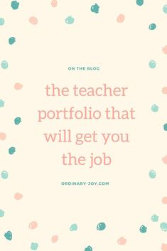 Create a Successful Teaching Portfolio — ordinary joy Jobs For Teachers, First Year Teachers, Special Education Teacher, Teacher Resources, Music Education, 1st Year, Teaching Computers, Teaching Jobs, Teaching Ideas