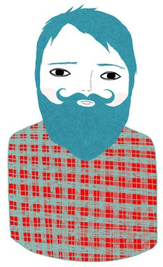 My absolutely favorite bearded guy prints from Kitty Genius Ashley G http://www.etsy.com/listing/64405571/joseph-ready-to-hang. I want a wall of these guys in the house!