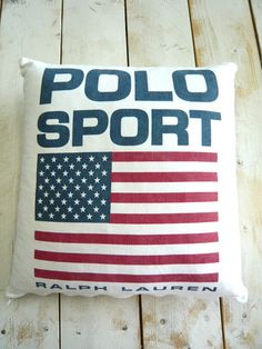 Ralph Lauren Home POLO SPORTS American flag Classic Decorative Pillow cushion