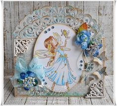 Gorgeous shaped card from Suzi Mac using products from…