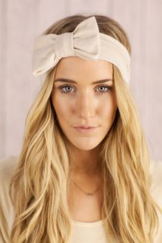 Ivory Bow Headband http://designer-hair-headbands.com/bow-headbands/