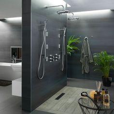 Double douche à l'italienne pour sa salle de bain parentale
