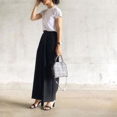 Basic Ootd, Love Fashion, Womens Fashion, Work Chic, Spring Summer Fashion, Work Wear, Midi Skirt, Personal Style, Summer Outfits