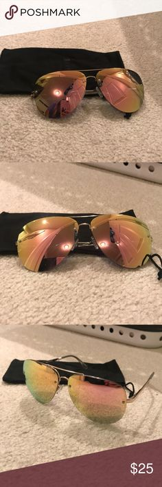 49f259c83646 NWOT Black and Gold Sunglasses These sunnies are gorgeous and super chic!  Never worn!