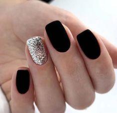 nails one color matte - nails one color ; nails one color simple ; nails one color acrylic ; nails one color summer ; nails one color winter ; nails one color short ; nails one color gel ; nails one color matte Black Nail Designs, Acrylic Nail Designs, Nail Color Designs, Shellac Designs, New Years Nail Designs, Square Nail Designs, Simple Nail Designs, Matte Black Nails, Purple Nails