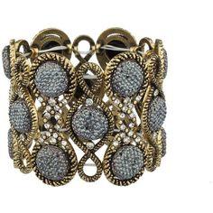 Amazon.com: Lux Accessories Burnish Pave Grey Caviar Glitter Stone... ($8.95) ❤ liked on Polyvore featuring jewelry, bracelets, stone bangles, bohemian jewellery, stretch jewelry, boho style jewelry and glitter jewelry
