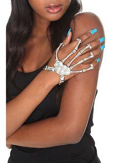 Skeleton Hand Ring Bracelet | Hot Topic