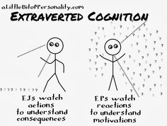 #Extraverted Cognition | A Little Bit of Personality: The Cognition Process in Stick Figures | #MBTI