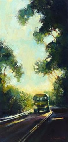 "Daily Paintworks - ""End of Shift"" - Original Fine Art for Sale - © Katya Minkina"