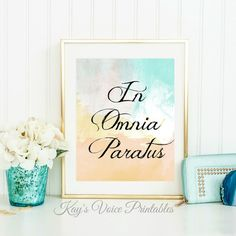 In Omnia Paratus Gilmore Girls Quote by KaysVoicePrintables