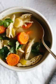 Veg Soup, Vegetable Soup With Chicken, Chicken And Vegetables, Chicken Soup, Soup Recipes, Chicken Recipes, Dinner Recipes, Healthy Recipes, Whole30 Recipes