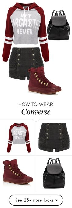 """idk #239"" by tinavanrheede on Polyvore featuring Pierre Balmain, WithChic, Converse and Witchery"