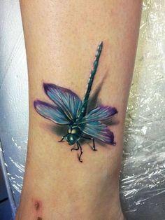 Wow. Very realistic. Dragonfly tattoo #dragon #tattoos #tattoo