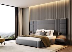 Contemporary bedroom interior design that very cozy 04 Room Design Bedroom, Luxury Bedroom Design, Bedroom Furniture Design, Interior Design, Bed Headboard Design, Bed With Headboard, Bedroom Decor, Bedroom Ideas, Modern Luxury Bedroom