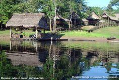 Amazon Muyuna Lodge, un rústico hotel muy cerca de Iquitos.  Un hotel rústico y muy cerca a la ciudad de Iquitos es el Amazon Muyuna Lodge, el cual mantienen una estrecha relación con el pueblo de San Juan de Yanayacu, quienes construyeron el complejo y se benefician con el ecoturismo que hay en esta zona.