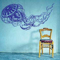 Jellyfish Decal Sticker Wall Art Graphic Fish Ocean Scuba Dive
