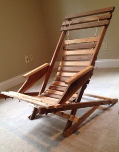 Wooden Foldable Adirondack Chair  Wood Fold Up by AAWoodWorks, $150.00
