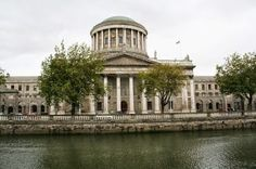 The Four Courts, originally designed by James Gandon, in Dublin is the main court building of the Republic of Ireland. Republic Of Ireland, The Republic, Tourist Information, The Four, Dublin Ireland, Attraction, Taj Mahal, British, River