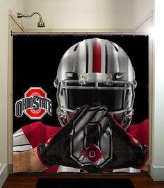 Ohio State Buckeyes College Football Shower Curtain Bathroom Home Decor