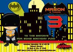 Batman Birthday Invitation MellysHandmades on Etsy