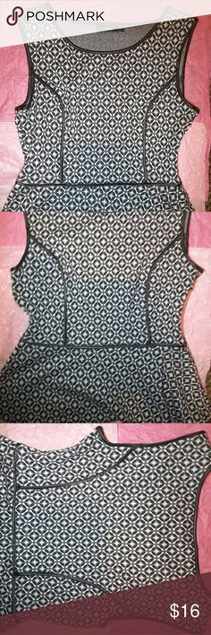 Cute Black and Grayish Stylist Peplum Shirt Nice fitted comfortable and cozy Peplum Shirt  and zipper on the right size of the shirt, it's in very good condition Apt. 9 Tops Blouses