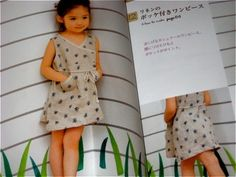 Sewing Linen Cotton Clothes Girls Japanese Craft Pattern Book. $24.00, via Etsy.