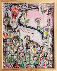Scottish Lady Rabbit in Bull Thistles by Blair Hobbs Hobbs, Amazing Art, Contemporary Art, Rabbit, Art Gallery, Painting, Bunny, Rabbits, Art Museum