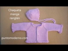 tutorial para hacer chaqueta de bebé, video e instrucciones, knit baby cardigan Baby Cardigan Knitting Pattern Free, Knitted Baby Cardigan, Knit Baby Sweaters, Cardigan Pattern, Baby Knitting Patterns, Cardigan Bebe, Pull Bebe, Baby Coat, Baby Dress
